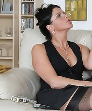 Nylons babe smoking