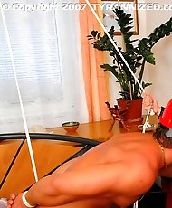 Raven-Haired Vixen Ties Up Construction Worker and Teases His Cock