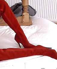 Red thighboots milf