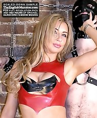 Mistress teases with electric CBT