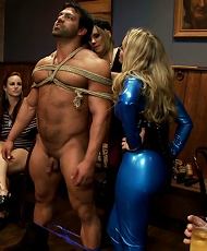 Maitresse Madeline and Aiden Starrs Divine B-day Bash LIVE and PUBLIC!